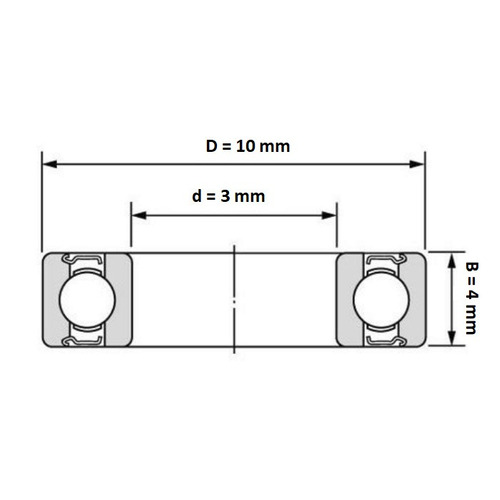 balero 623zz impresoras 3d, cnc, reprap  3x10x4mm