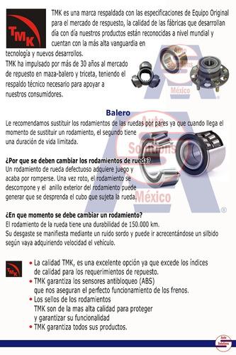 balero doble de rueda trasero ford escape 2001-2015 con abs