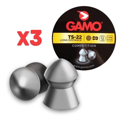 balines gamo ts-22 5.5mm x 600 (3 latas)