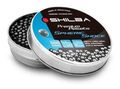 balines shilba premium esfericos 4,5mm lata x500 9 grains