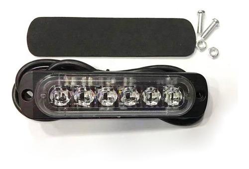 baliza 6 led ambar 12v 24v efectos varios chip samsung