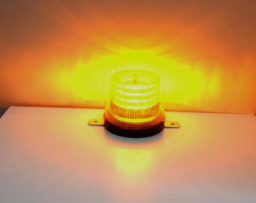 baliza ambar intermitente 80 leds electrónica 12  ó  24 v