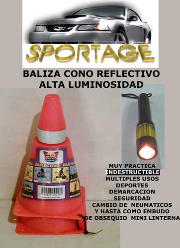 baliza cono reflectivo multiples usos minilinterna de regalo
