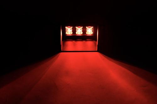 baliza de led 1106a para parabrisa 3w wide angle 12v rojo