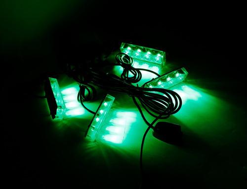 baliza de led 3038-4a - 16w - 4 modulos - kit parrilla verde