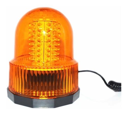 baliza de led 805a 80 led ambar iman - directo encendedor