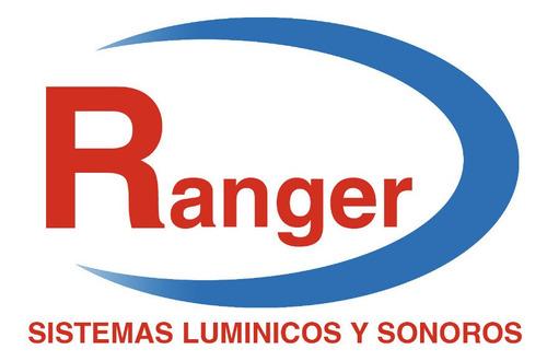baliza de led 815b rojo 30w 12/24v ip58 bomberos - señalizacion - emergencias - vial - ranger balizas