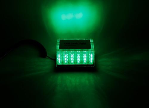 baliza de led con iman 48w con efectos 12v 810 verde