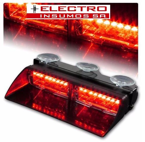 baliza de led ei1109 - parabrisa -16w - rojo - verde - azul