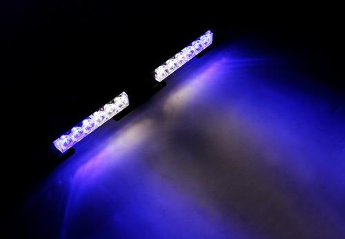 baliza de led ei1203tl kit 2 modulos 12w blanco y azul