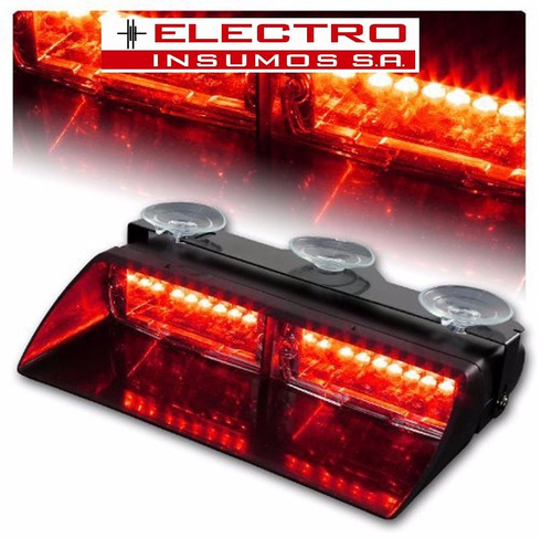 baliza de led ei3088b - parabrisa -16w - rojo - verde - azul