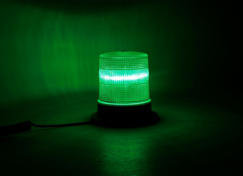 baliza de led ei604m 8 high power led 12v/24v verde
