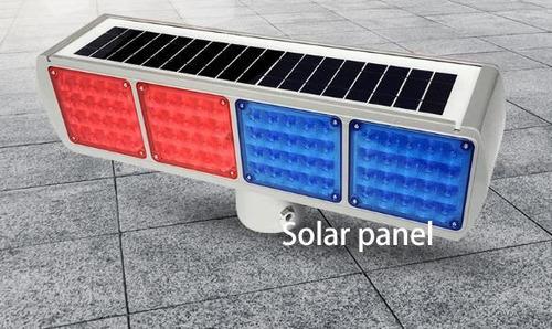 baliza de led solar barricada bicolor ideal conos soporte