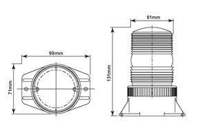 baliza flash estroboscopica led 10-110v autoelevador