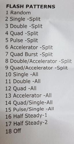 baliza led 12v - 12w , 18 efectos, única en el mercado!!!