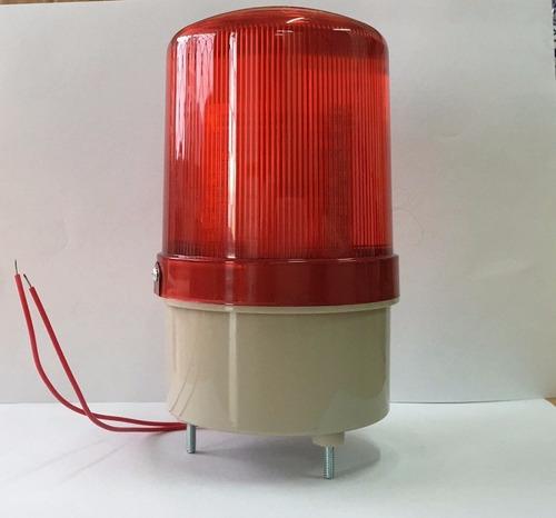baliza led estroboscópica instalada sirena lámpara buzz abc