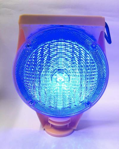 baliza led intermitente conos bicolor  rojo y azul 311 solar