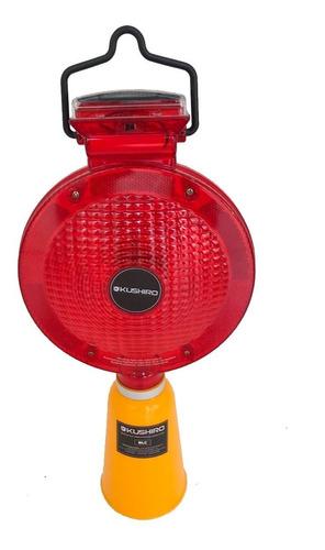 baliza luz intermitente para conos panel solar recargable