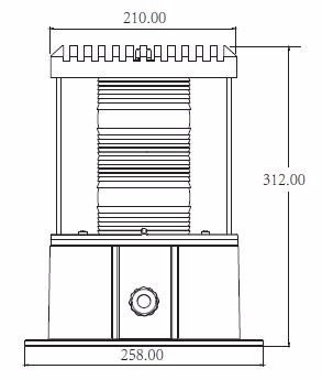 baliza para torres de 20000 candelas blanca tipo l-865, icao