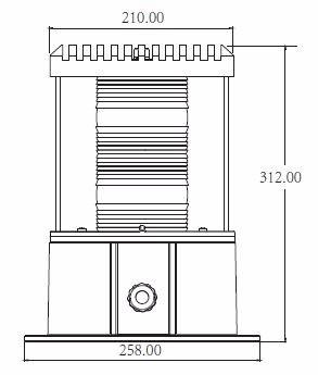 baliza para torres de 20000/2000 cd blanca tipo l-865, l864