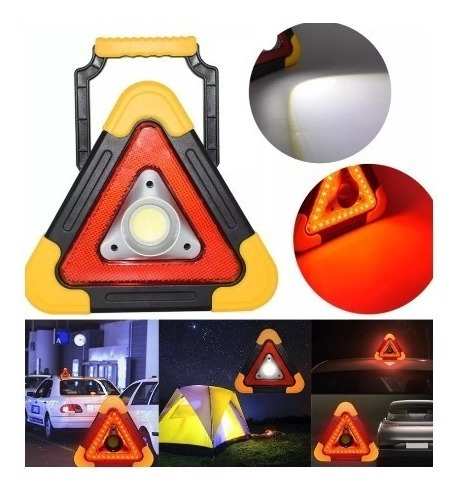 baliza recargable intermitente fija led camping auto
