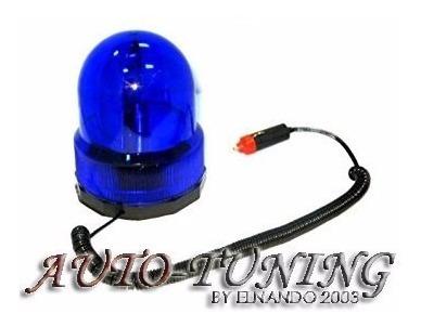 baliza rotativa giratoria imantada potenciada 12v azul