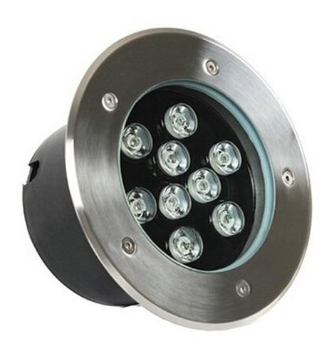 balizador luminária led chão piso jardim 12w blindado