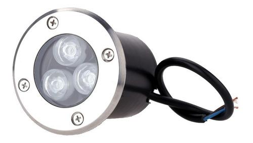 balizador luminária led chão piso jardim 3w embutir blindado