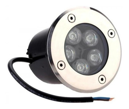 balizador luminária led chão piso jardim 5w embutir blindado