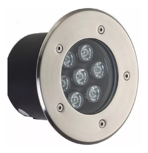 balizador luminária led chão piso jardim 7w embutir blindado