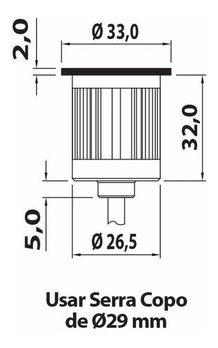 balizador solo dot spot 150° bivolt 1,5w bq 13 unidades
