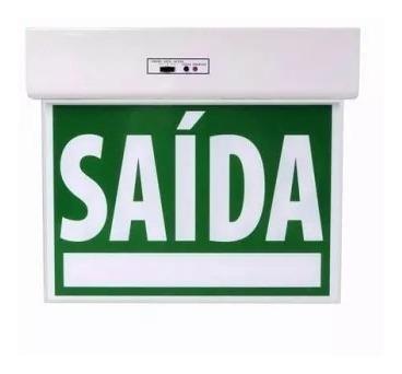 balizamento de saída de emergência led verde d/f intelbras