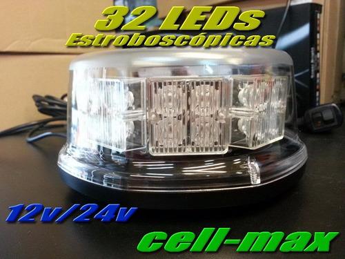 balizas estroboscopicas 32 led ambar / auxilio / seguridad