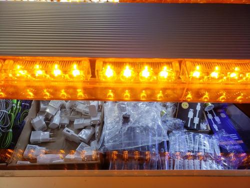 balizas led estrovoscopicas 1,20mts - ambar
