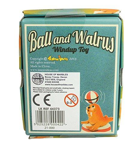 ball walrus windup retro juguete juego clásico circus entert