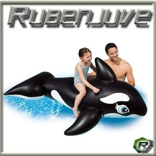 ballena orca flotador inflable pileta chicos juego animal