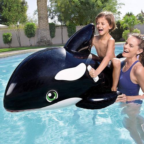 ballena orca inflable flotador gigante infantil bestway