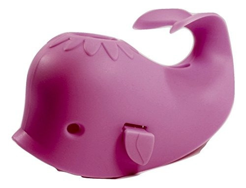 ballena (rosa) faucet cover - baño juguetes organizador