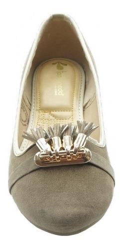 ballerina casual marca top moda  nobuck beige 342