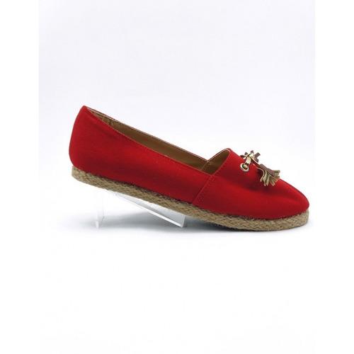ballerina casual textil rojo marca diexca