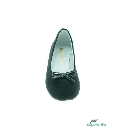 ballerina para niña textil negro marca wendys