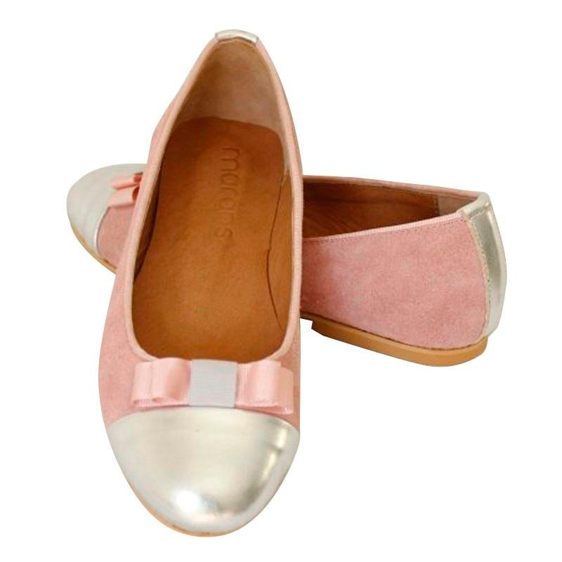 249a64c2ee3 ballerinas zapatos de mujer en cuero rosas chatitas megras. Cargando zoom.