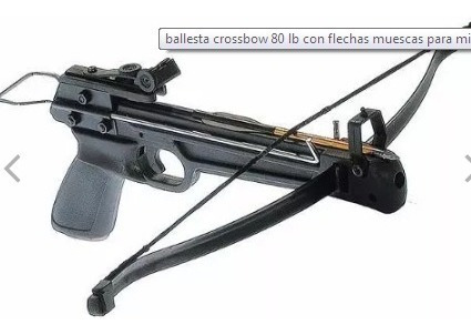 ballesta crossbow 80 lb con flechas muescas para mira láser