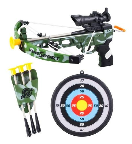 ballesta lanza flechas con blanco accion extrema 6440