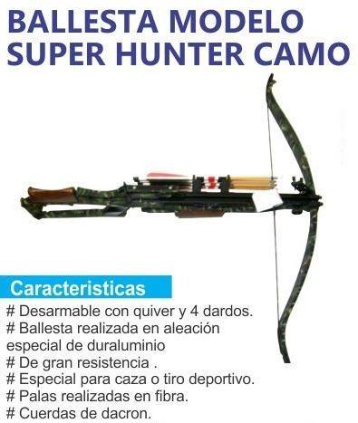 ballesta prana super hunter camuflada + quiver y dardos