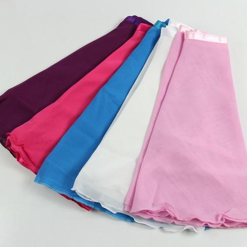 ballet chifón falda niña tutu danza colores
