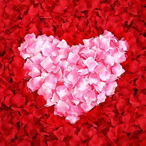 ballg 5000 rebanada rosa petalos de rosa de seda boda decora