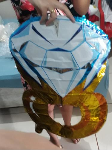 balão anel grande noivado casamento