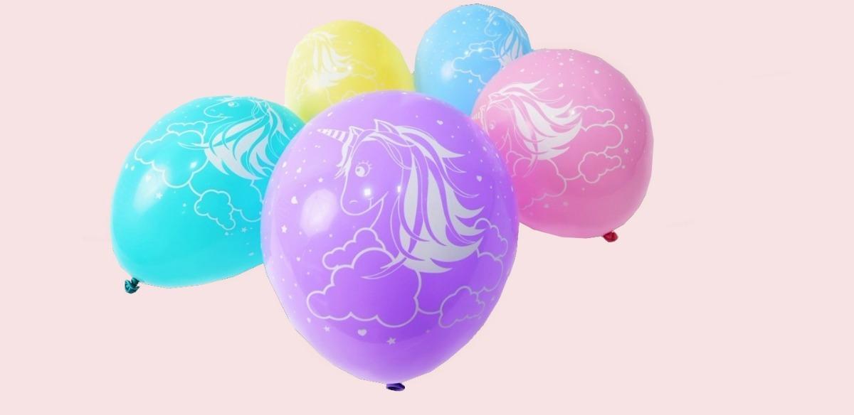 Balão Bola Bexiga Festa Unicórnio Cores Sortidas 50 Unidades R 32