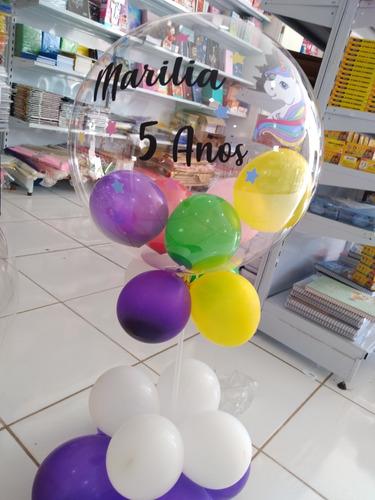 balão buble personalizado